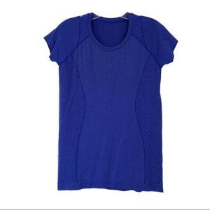 Zella Short Sleeve Blue Activewear T-shirt Top SzM